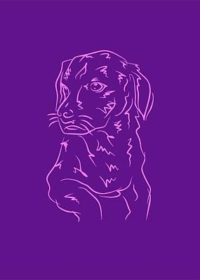 Royalty-Free and Rights-Managed Images - Dog 8b Purple by Ahmad Nusyirwan