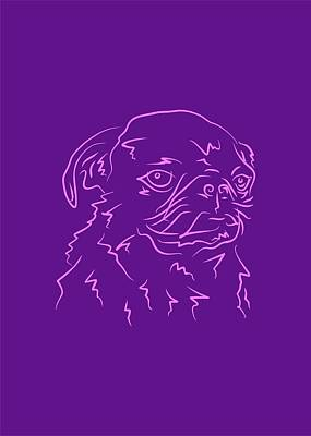Royalty-Free and Rights-Managed Images - Dog 9b Purple by Ahmad Nusyirwan