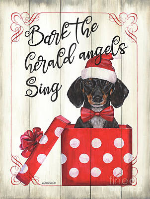 Royalty-Free and Rights-Managed Images - Dog Holiday 1 by Debbie DeWitt