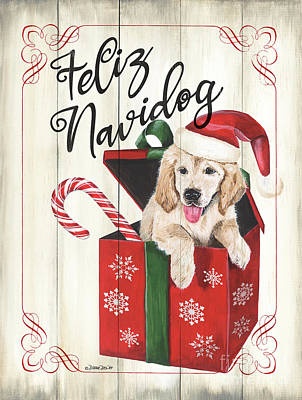 Royalty-Free and Rights-Managed Images - Dog Holiday 2 by Debbie DeWitt