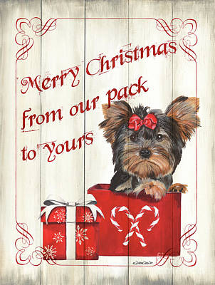 Royalty-Free and Rights-Managed Images - Dog Holiday 3 by Debbie DeWitt