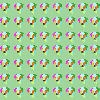 Royalty-Free and Rights-Managed Images - Dog Pattern WPAP Style Green background by Ahmad Nusyirwan