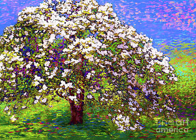 Impressionism Royalty-Free and Rights-Managed Images - Dogwood Dreams by Jane Small