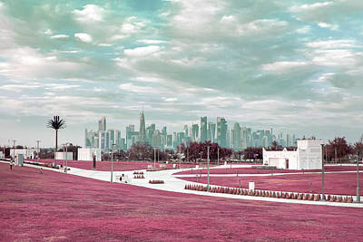 Surrealism Royalty-Free and Rights-Managed Images - Doha, Qatar 2 - Surreal Art by Ahmet Asar by Celestial Images