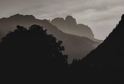 Unicorn Dust - Dolomite Silhouette in Sepia by Norma Brandsberg