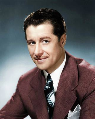Peacock Feathers - Don Ameche colorized by Stars on Art