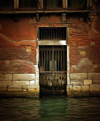 Pop Art - Doorway in Venice by Bruce Young