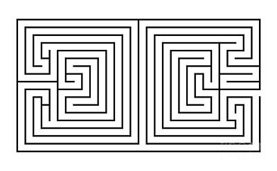 Book Quotes - Double maze - labyrinth by Michal Boubin