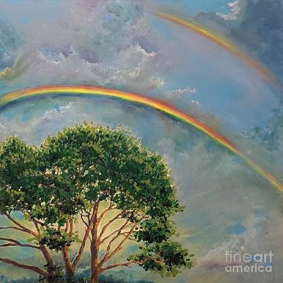 Outerspace Patenets Rights Managed Images - Double Rainbow Royalty-Free Image by Merana Cadorette