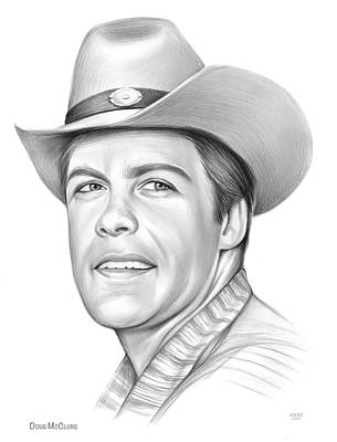 Drawings Royalty Free Images - Doug McClure Royalty-Free Image by Greg Joens