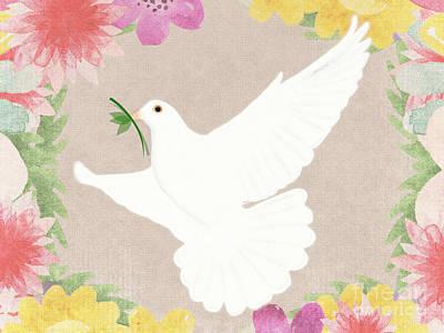 Winter Animals - Dove of Peace by Priscilla Wolfe