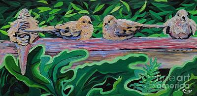 Surrealism Royalty-Free and Rights-Managed Images - Doves After Coitus by Deanna Hart Hall