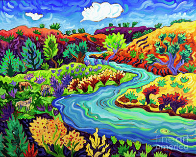 Painting - Down by the River by Cathy Carey