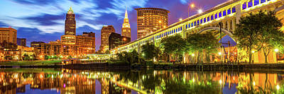 Ps I Love You - Downtown Cleveland Ohio Skyline Panorama by Gregory Ballos