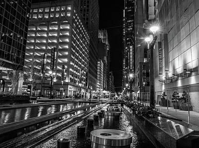 Science Tees Rights Managed Images - Downtown Houston At Night Royalty-Free Image by Dan Sproul