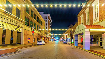 Photograph - Downtown Parkersburg At Night by Jonny D