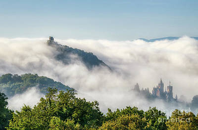 Photograph - Drachenfels Wreathed in Fog by Katho Menden