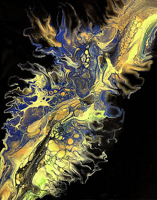 Abstract Shapes Janice Austin - Dragon Fire by Teresa Wilson - Pour Your Art Out by Teresa Wilson