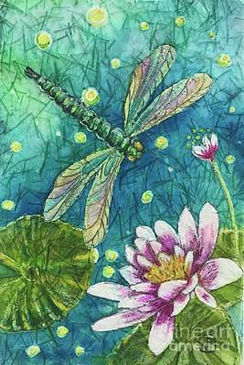 Painting - Dragonfly Dreams Three by Jannett Prusik