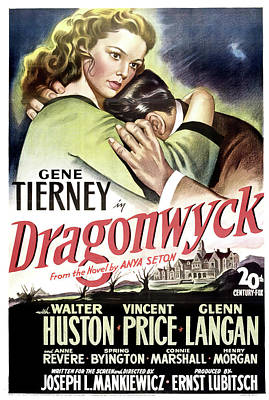 Winter Animals - Dragonwyck movie poster, with Gene Tierney and Walter Huston, 1946 by Stars on Art