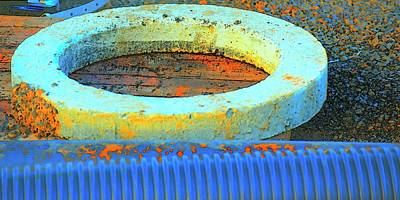 Jerry Sodorff Royalty-Free and Rights-Managed Images - Drain Pipe and Concrete  Ring by Jerry Sodorff