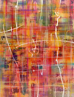 Abstract Oil Paintings Color Pattern And Texture - Dream Weaving 1 by Hailey E Herrera