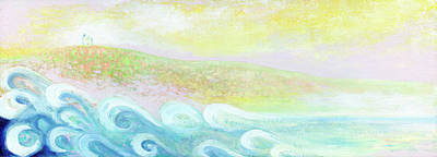 Target Threshold Watercolor - Dreaming of Ocean Waves by Jennifer Lommers