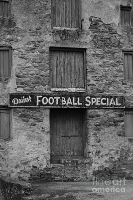 Sports Royalty-Free and Rights-Managed Images - Drink Football Special bw by Eddie Barron