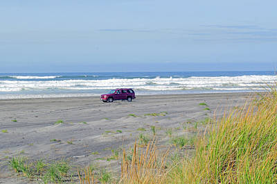 Photograph - Driving On The Beach by Tikvah's Hope