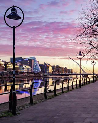Photograph - Dublin Docklands Quayside - Dublin, Ireland by Barry O Carroll