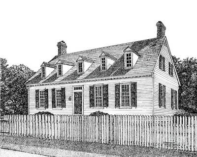Drawing - Dudley Digges House by Stephany Elsworth