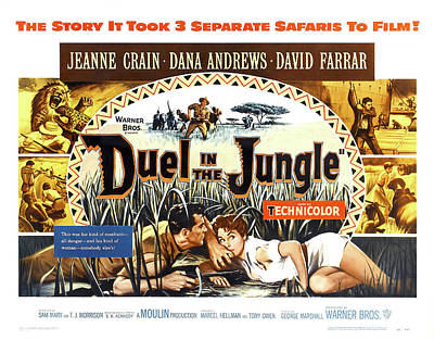 Pasta Al Dente Royalty Free Images - Duel in the Jungle movie poster, with Jeanne Crain, 1954 Royalty-Free Image by Stars on Art