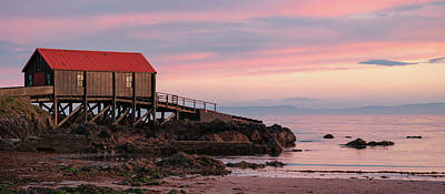 Landscapes Royalty-Free and Rights-Managed Images - Dunaverty Lifeboat Station by Dave Bowman