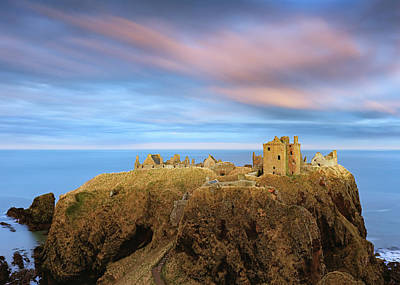 Anchor Down - Dunnottar Castle after Sunset by Grant Glendinning