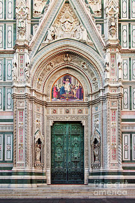 Studio Grafika Zodiac Rights Managed Images - Duomo Front Door - Florence Italy Royalty-Free Image by Brian Jannsen