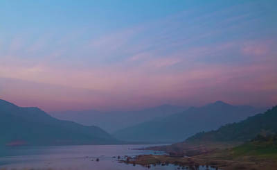 Monochrome Landscapes - Dusk at Lake Kaweah by Patti Deters