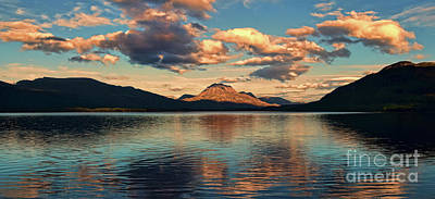 Photograph - Dusk at Loch Maree by Dave Harnetty