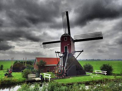 Christmas Christopher And Amanda Elwell - Dutch Windmill No 2 by David Smith