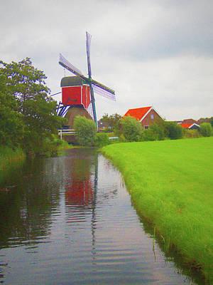 Christmas Christopher And Amanda Elwell - Dutch Windmill No 4 by David Smith