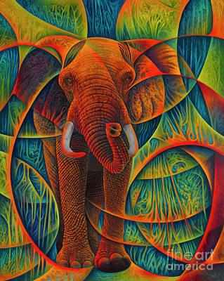 Parks - Dynamic Elephant - 3D by Ricardo Chavez-Mendez