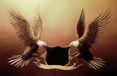 Soap Suds - Eagle Banner by Dan Nelson