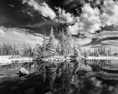 Queen Rights Managed Images - Eagle Head, Nova Scotia tidal pond in infrared Royalty-Free Image by Murray Rudd