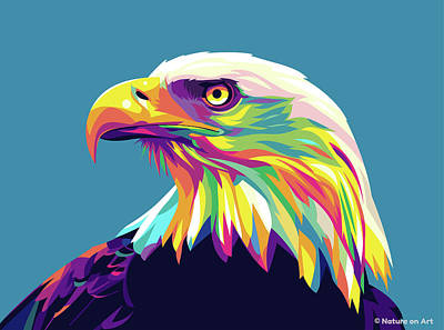 Royalty-Free and Rights-Managed Images - Eagle by Stars on Art