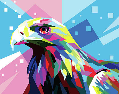 Royalty-Free and Rights-Managed Images - Eagle Wpap Pop Art by Ahmad Nusyirwan
