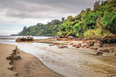 Personalized Name License Plates - Early Morning Crossing Maori Beach Stewart Island New Zealand by Joan Carroll