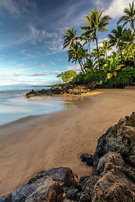 Photo Royalty Free Images - Early Morning Walk on a South Maui Beach Royalty-Free Image by Pierre Leclerc Photography
