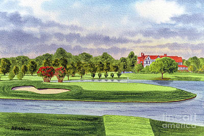 Recently Sold - Sports Royalty-Free and Rights-Managed Images - East Lake Golf Course Atlanta GA 15th Hole by Bill Holkham