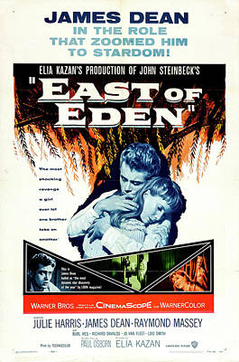 Mixed Media Royalty Free Images - East of Eden movie poster 1955 Royalty-Free Image by Stars on Art