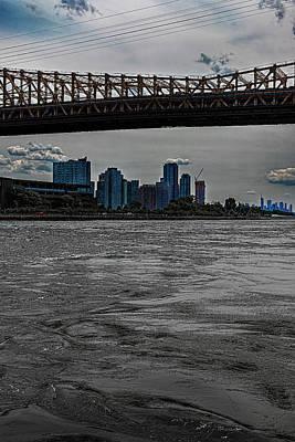 Rowing - East River - 59th Street Bridge and Roosevelt Island by Robert Ullmann