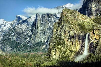 Uncle Sam Posters Rights Managed Images - East Side of Yosemite Valley Royalty-Free Image by Francis Sullivan